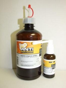Koloidní stříbro Antibakterin medium 500ml + 50ml