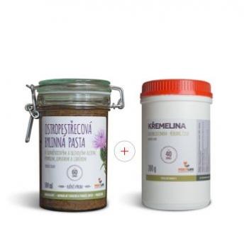 Výhodný set Ostropestřecová bylinná pasta 500ml + křemelina