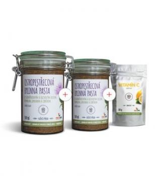Výhodný set 2 x Ostropestřecová bylinná pasta 500 ml + Vitamín C 185 g