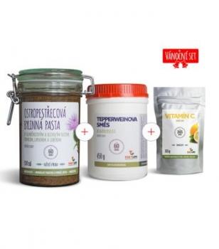 Výhodný set Ostropestřecová pasta + Tepperweinova směs + Vitamín C v prášku