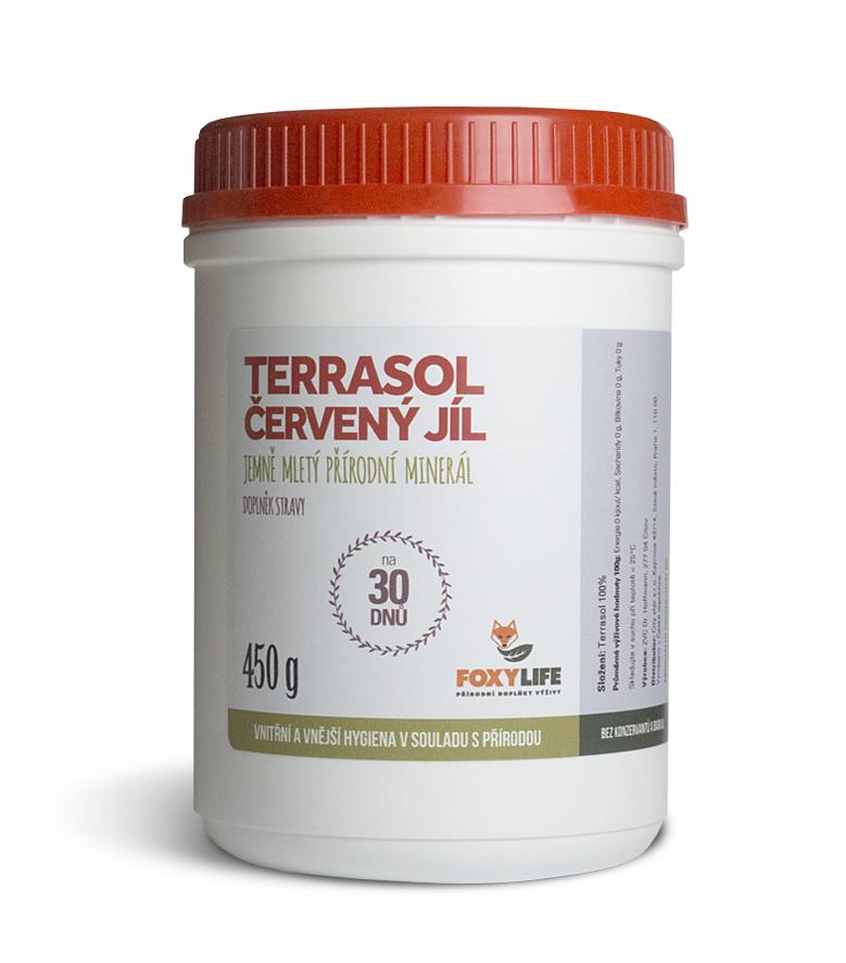TERRASOL - červený jíl 450 g