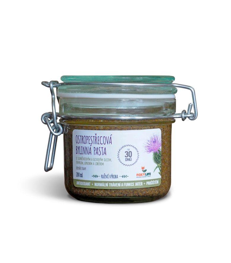 Ostropestřec mariánský- 100% přírodní bylinná pasta 200 ml