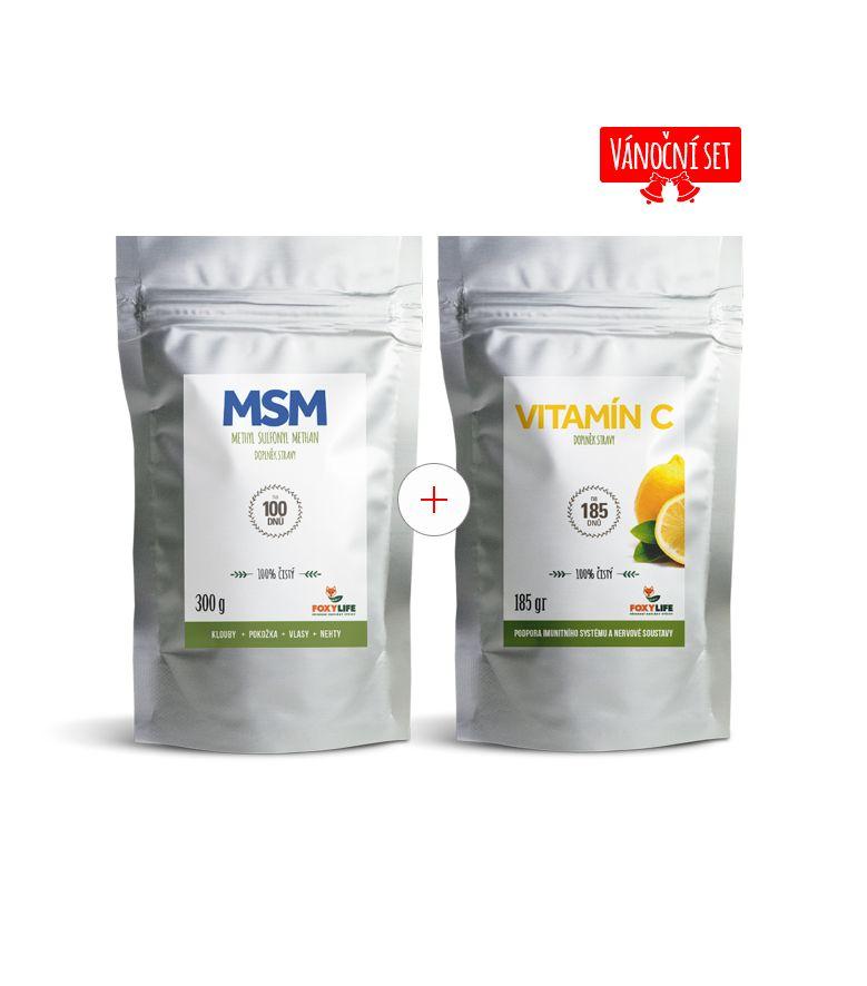 Vánoční set MSM a vitamínu C