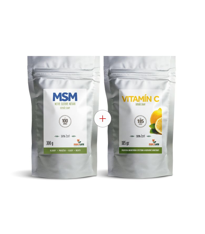 Výhodný set MSM a vitamín C